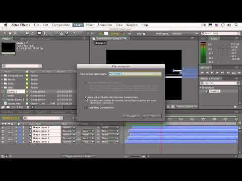 After Effects CS4 Essentials Precomposing with Layers