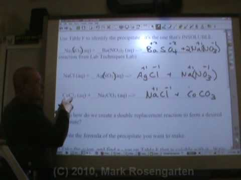 Chemistry Tutorial 8.3b:  Double Replacement Advanced