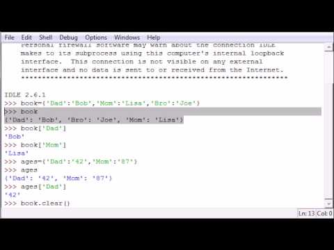 Python Programming Tutorial - 19 - Dictionary