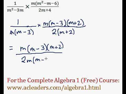 (Algebra 1) Rational Expressions - Multiplying #8