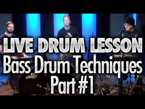 Bass Drum Speed Techniques - Drum Lessons Live #4 Part #1