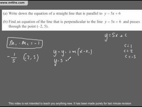 (Q286) A Star GCSE Revision Perpendicular Lines