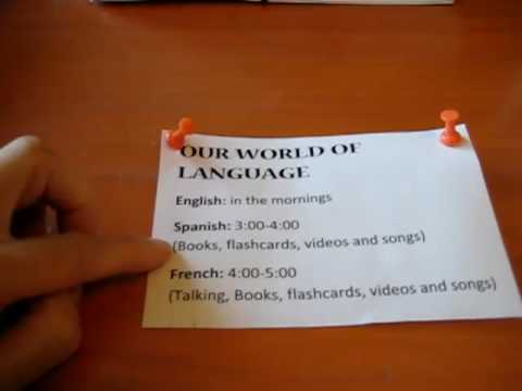 Preschool - Reading. Teaching languages