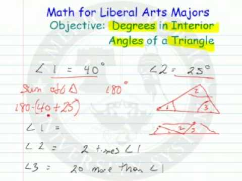 Interior Angles in a Triangle