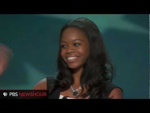 Watch Olympic Gold Medal Gymnast Gabby Douglas Recite Pledge of Allegiance at DNC