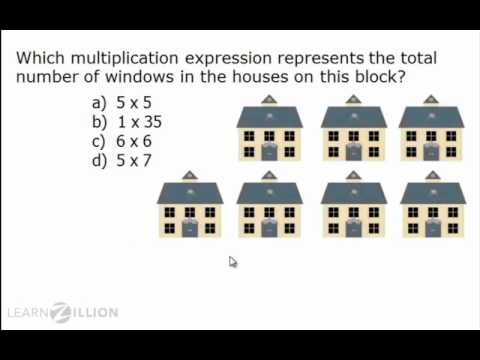 Understand multiplicion problems using equal groups - 3.OA.3