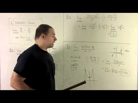 L'Hopital's Rule 3 - exp, log, and inverse sine