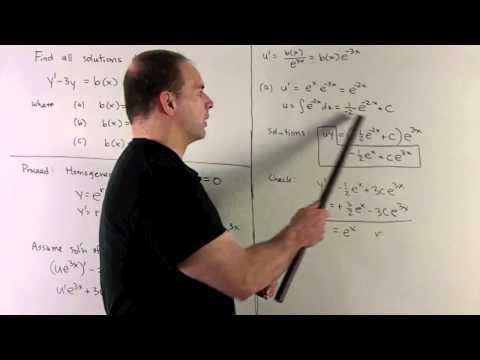 General Solution to y' - 3y = b(x)