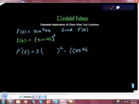Repeated Application of the Chain Rule Trig Functions
