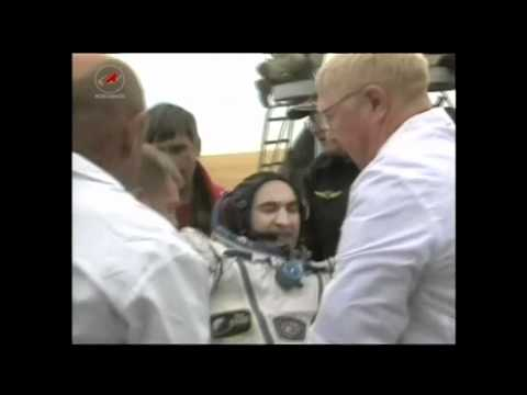 Expedition 24 Crew Lands Safely on the Steppe of Kazakhstan