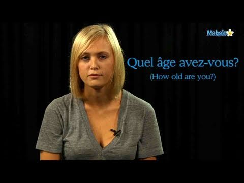 How to Ask Someone's Age in French