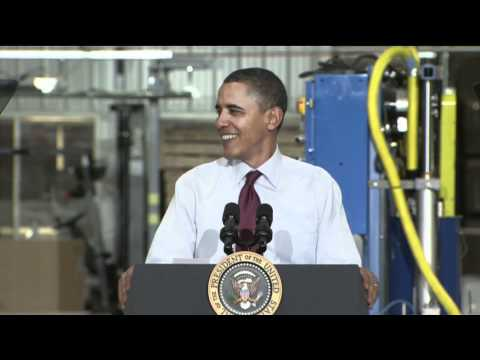Obama Road Tests Message on Economic Competitiveness in Wisconsin