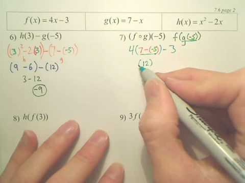 7.6b Function Operations - Algebra 2