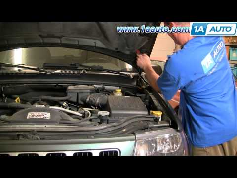 How To Install Repair Replace Sagging Falling Engine Hood Jeep Grand Cherokee 99-04 1AAuto.com