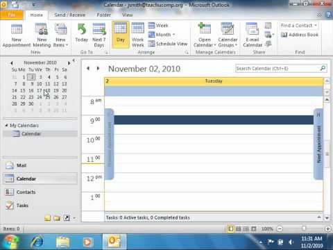 Outlook 2010 Tutorial Navigating the Calendar Microsoft Training Lesson 6.3