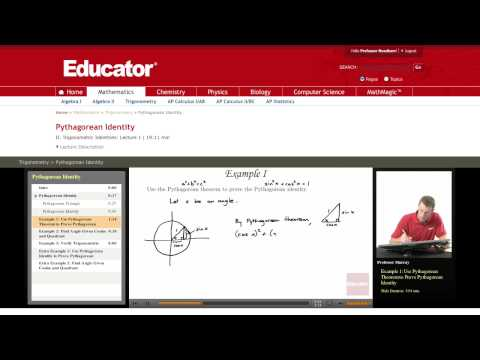 Trigonometry: Prove the Pythagorean Identity
