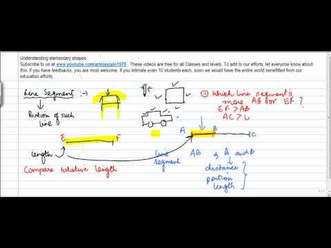 415.Class VI - Understanding elementary shapes - Line segment