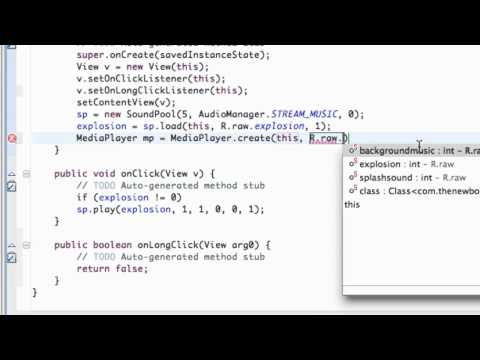 Android Application Development Tutorial - 80 - Using the OnLongClick method