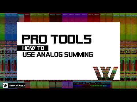 Pro Tools: Analog Summing plus Win 1 Year Subscription to PureMix.net | WinkSound