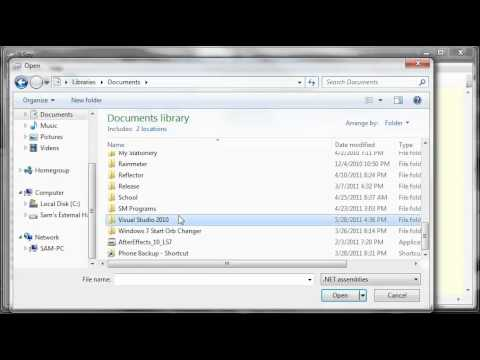 Visual Basic Tutorial - 179 - FTP Downloader Part 2   Referencing A Class Library