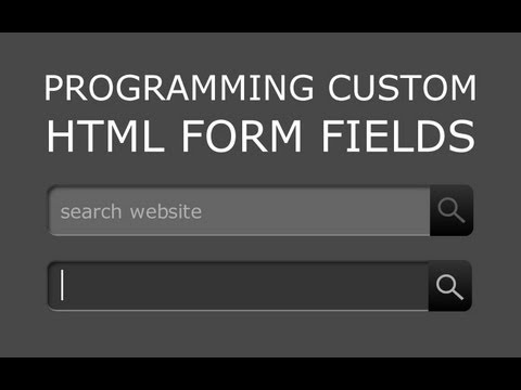 2. Style Custom HTML Form Fields Tutorial Programming Process