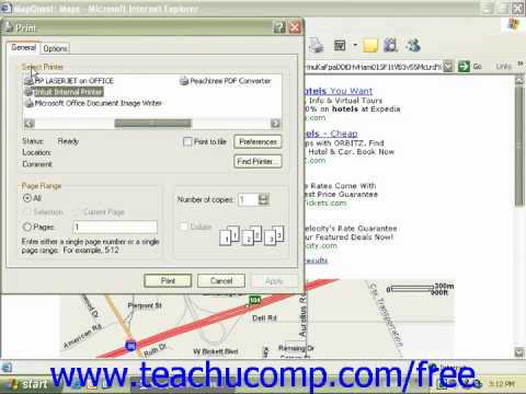 Windows XP Tutorial Printing from the Internet Microsoft Training Lesson 8.3