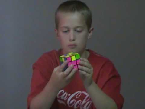 Isaiah the Amazing 9 year old Solving the Rubiks Cube using ELL\CLL method