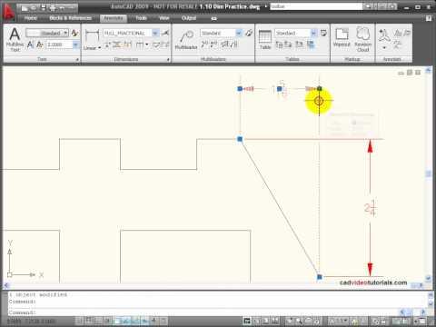 AutoCAD Tutorial - Extra Dimensioning Tools