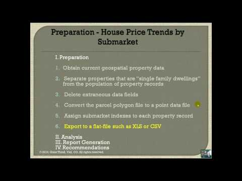 Geospatial Derivation Of Average House Prices And Trends By Submarket - Part 2