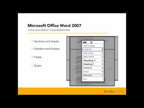 Word: Planning to construct a long document | lynda.com