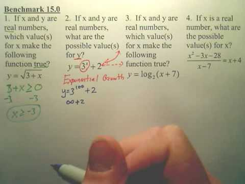 Benchmark 15 - Algebra 2 (2nd Version)