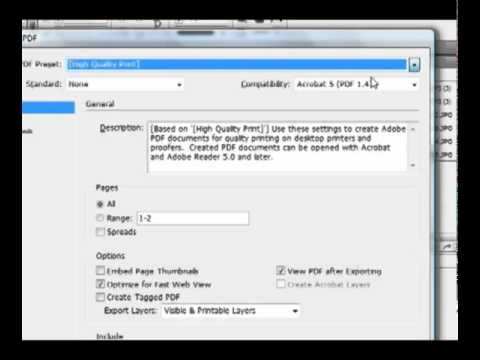 How to Export to PDF in InDesign