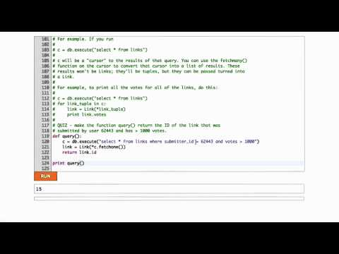 Advanced Sql In Python Solution - CS253 Unit 3 - Udacity