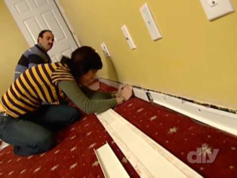 Baseboard Wire Track-DIY