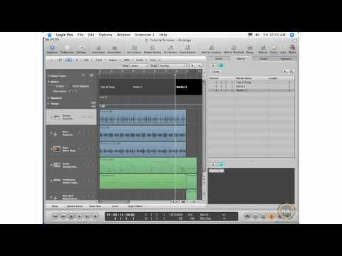 Apple Logic Pro 8 Ch 6 The Marker List Link Button, Editing Fonts, Tools, Marker Global Track