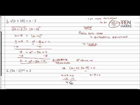 Solve Equations with Rational Exponents or Extraneous Solutions