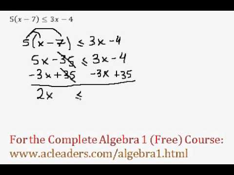 Simple Inequalities - Question #4