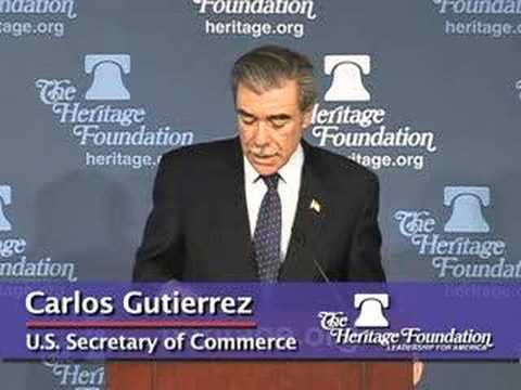 Secretary Gutierrez on How Free Trade Helps U.S. Security