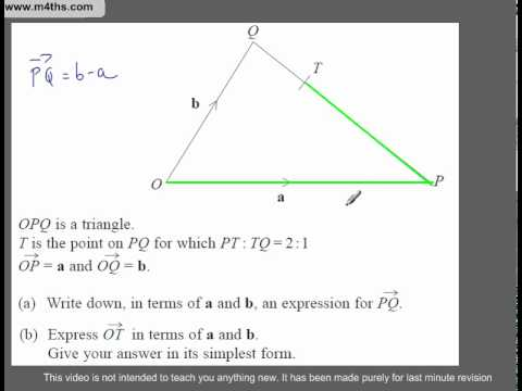 (Q230) A Star GCSE Revision Questions Vectors including ratios