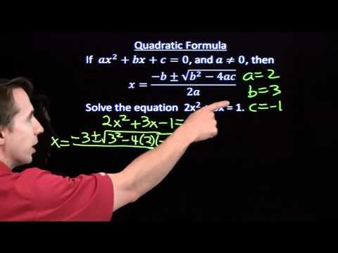 Art of Problem Solving: Using the Quadratic Formula Part 2