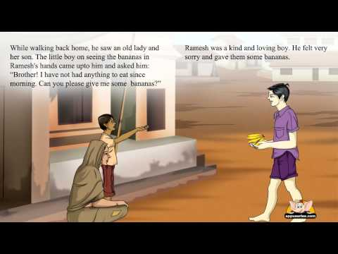 Talking Book in English - Ramesh goes to the market