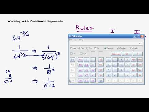 Introduction to Fractional Exponents and Radicals