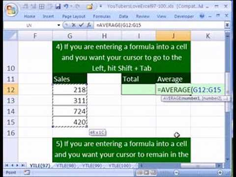 YTLE#97: 5 Ways To Enter Formula in Excel