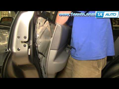 How To Install Replace Remove Rear Door Panel Dodge Durango 04-09 1AAuto.com