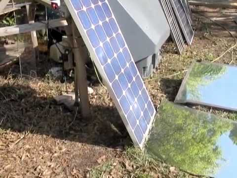 Solar Panel Mirror Booster 30% increase in power output with mirrors