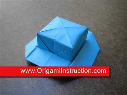 How to Fold Origami Lady Hat - OrigamiInstruction.com