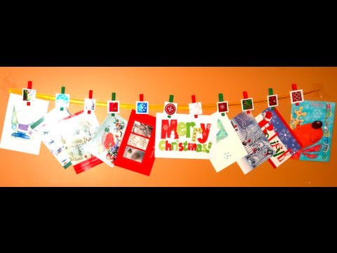 DIY: Christmas Card Holder