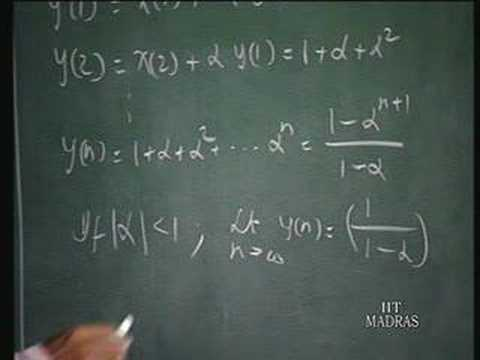 Lecture - 39 Discrete - Time Systems (2)