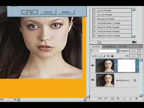 Enhance Eyes Sharpen Filter Photoshop CS4 Lesson 2