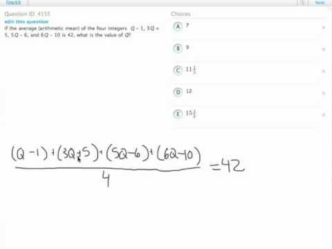 Grockit GMAT Quantitative - Problem Solving: Question 4155